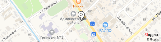 Мегафон на карте Новокубанска