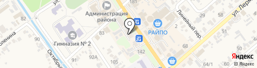 Кадастровый инженер Кугафоренко Е.Н. на карте Новокубанска