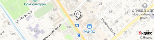 Колбасные изделия на карте Новокубанска