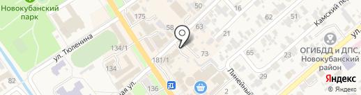 Александрия на карте Новокубанска