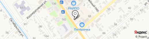 Телец на карте Новокубанска
