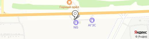 АЗС на Центральной на карте Фанерника