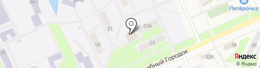 Губернский на карте Караваево