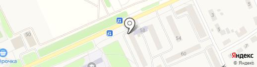 Центральная районая библиотека на карте Караваево
