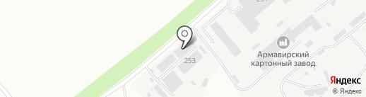 Меандр на карте Армавира