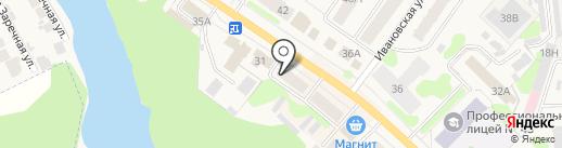 Магазин игрушек, детской одежды и обуви на карте Кохмы
