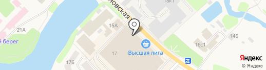 Кохомский на карте Кохмы