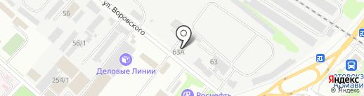 АрмавирКамазАвтоцентр, ЗАО на карте Армавира