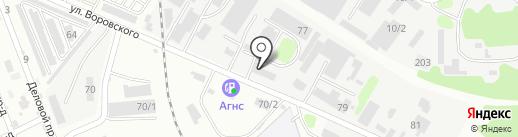 Техцентр на карте Армавира