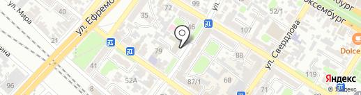 Отдел управления ФСБ в г. Армавире на карте Армавира