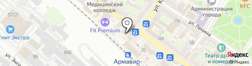 Hostel Armavir на карте Армавира