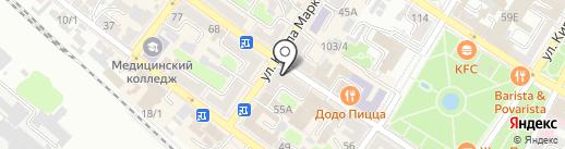 Армавирская межрайонная аптечная база на карте Армавира