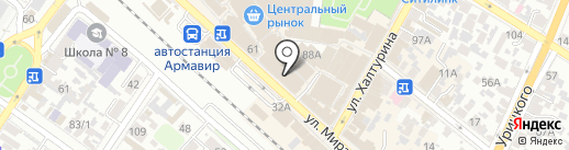 Советский кондитер на карте Армавира