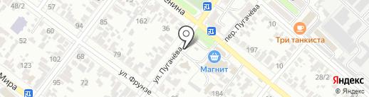 Шиномонтажный павильон на ул. Пугачева на карте Армавира