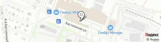 Бастион на карте Тамбова