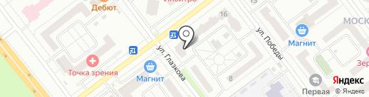 Крепеж на карте Тамбова