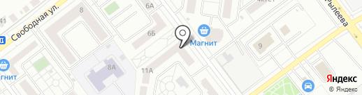 Моршанская Кружка на карте Тамбова