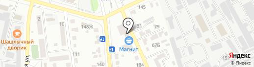 Магазин канцелярских и художественных товаров на карте Тамбова