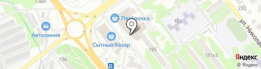 Дымок на карте Тамбова