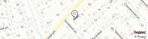 Дорожное радио, FM 106.4 на карте Тамбова