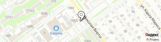 Автоформат на карте Тамбова