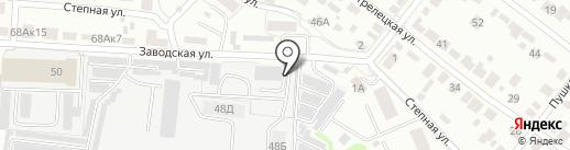 Гефест на карте Тамбова