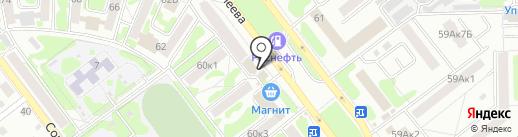 Елена на карте Тамбова