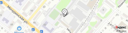 АвтоДоп 68 на карте Тамбова