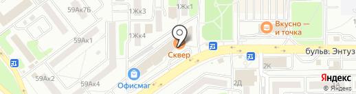 Тамбов-коннект на карте Тамбова