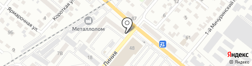 Автобан-Тамбов на карте Тамбова
