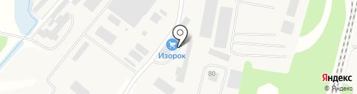 Изорок, ЗАО на карте Строителя