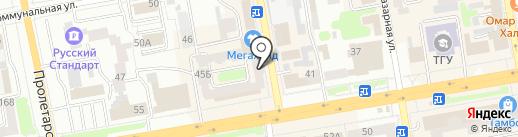 Переезд-68 на карте Тамбова