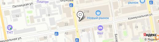 Магазин кожгалантереи на карте Тамбова