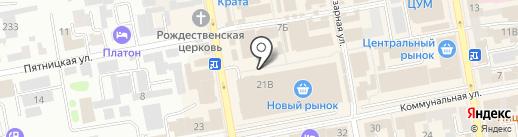 Липецкие колбасные изделия на карте Тамбова