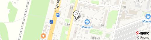 Нотариус Сергеева А.В. на карте Строителя