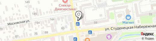 Сеть киосков по продаже хлебобулочных изделий на карте Тамбова