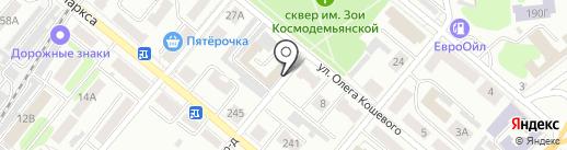 Русское Радио, FM 105.9 на карте Тамбова