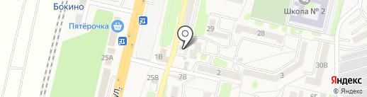 Магазин фастфудной продукции на ул. Центральный микрорайон на карте Строителя