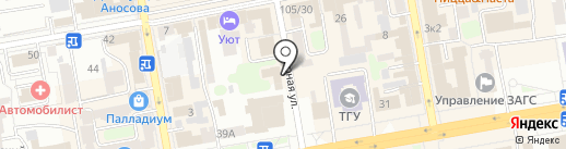 Камуфляж на карте Тамбова