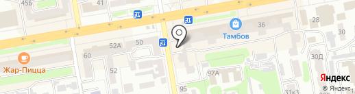 Золотая Нива на карте Тамбова