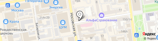 География на карте Тамбова
