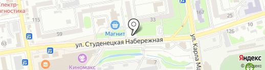 На студенецкой на карте Тамбова