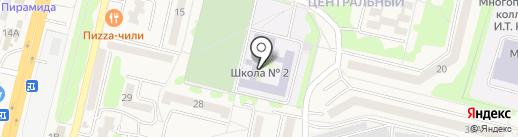 Цнинская средняя общеобразовательная школа №2 на карте Строителя
