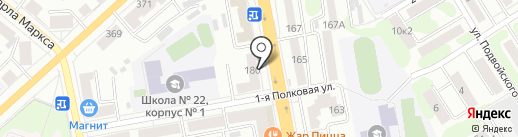 Отделение почтовой связи №8 на карте Тамбова