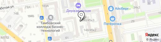 Атмосфера на карте Тамбова
