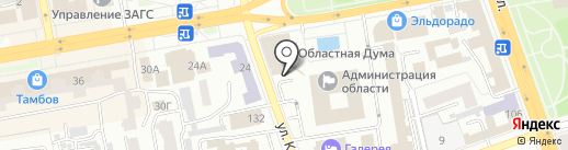 Тамбовская областная Дума на карте Тамбова