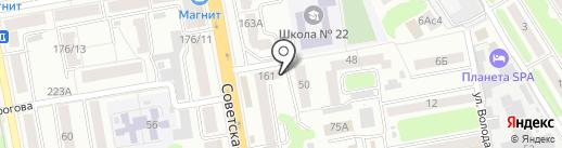 Ксения на карте Тамбова