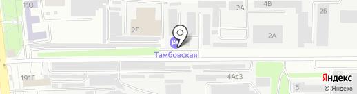 Тамбовская на карте Тамбова