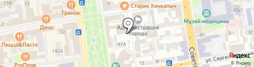 Тамбовский областной суд на карте Тамбова