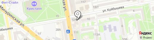 Родина на карте Тамбова
